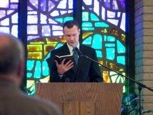 Reid Hankins preaching